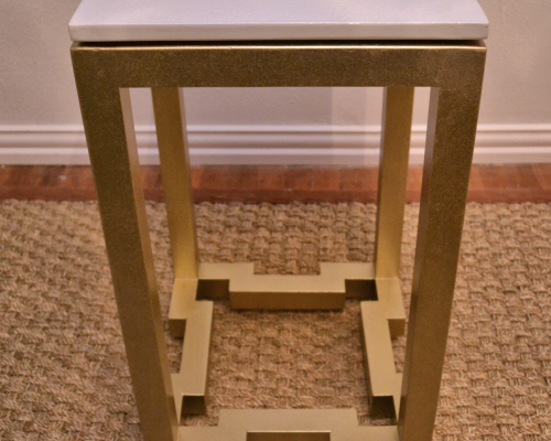DIY Greek Key Side Table