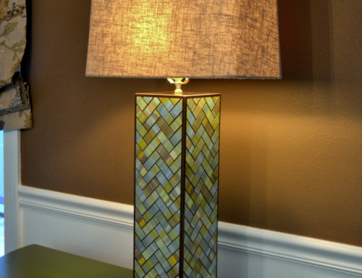 Watercolor Tile Herringbone Table Lamp