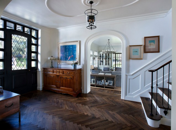Herringbone wood floor - Candelaria Design Associates via Houzz.com