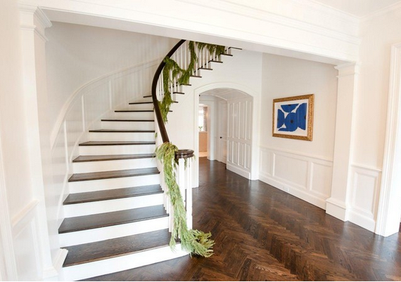 Herringbone hardwood floor - Munger Interiors entryway via Houzz.com