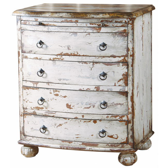 Genial White Distressed Chest From Overstock