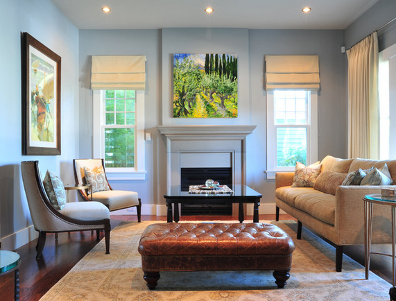 window treatments - living room from enviable designs via houzz