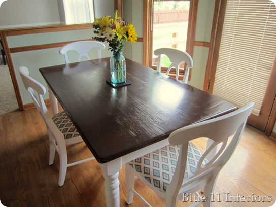 dining table makeover - after - blue 11 interiors