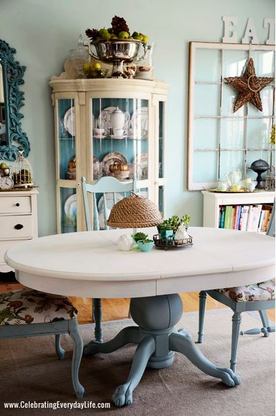dining table makeover - after - celebrating everyday life
