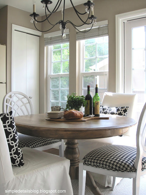 dining table makeover - after - simple details blo