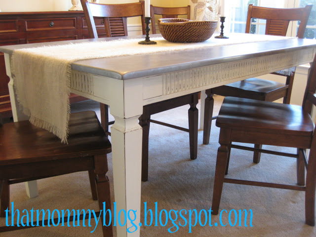 dining table makeover - after - that mommy blog