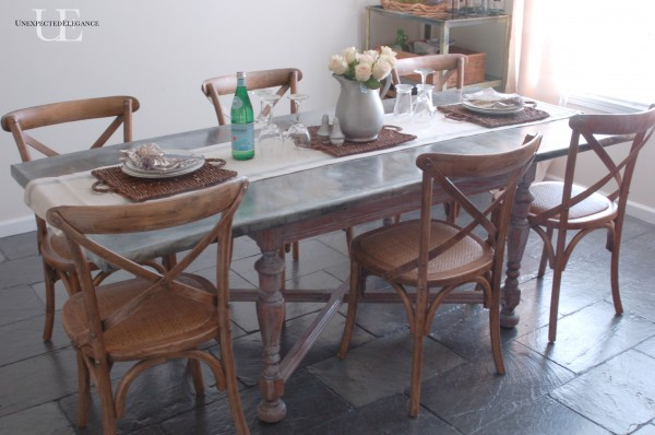 dining table makeover - after - unexpected elegance