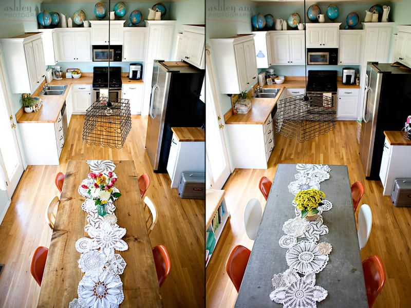 dining table makeover - before and after - kara paslay designs