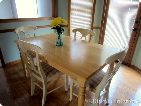 dining table makeover - before - blue 11 interiors