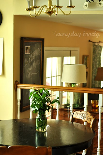 dining table makeover - before - everyday lovely