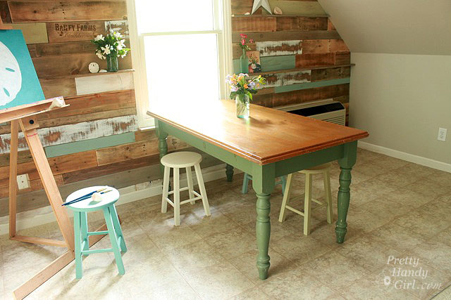 dining table makeover - before - pretty handy girl