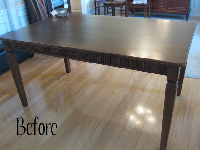 dining table makeover - before - that mommy blog