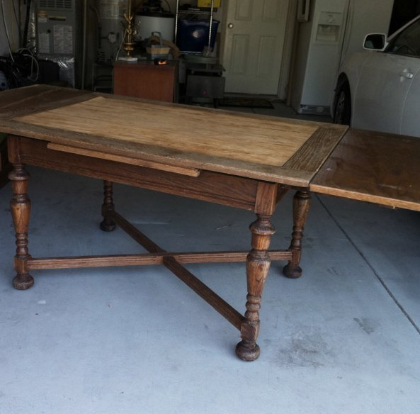 dining table makeover - before - unexpected elegance