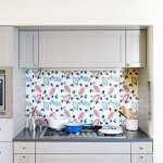 Unique Kitchen Backsplash Idea: Fabric Under Glass