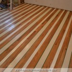Kitchen Progress — Painted Striped Hardwood Floor