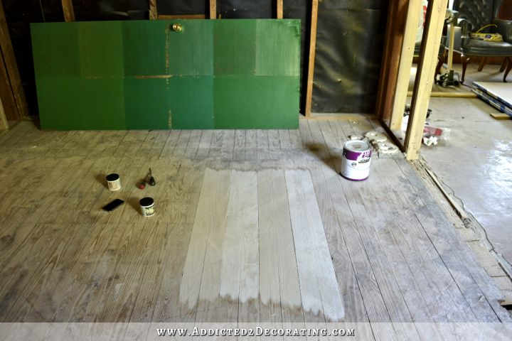 Painted Wood Floor Three Design Options