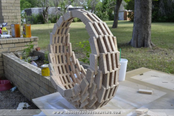 scrap wood hanging flower basket 13