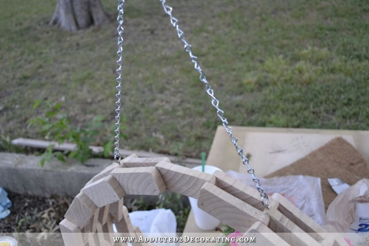 scrap wood hanging flower basket 15