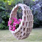 Easy & Inexpensive DIY — Pieced Wood Hanging Flower Basket