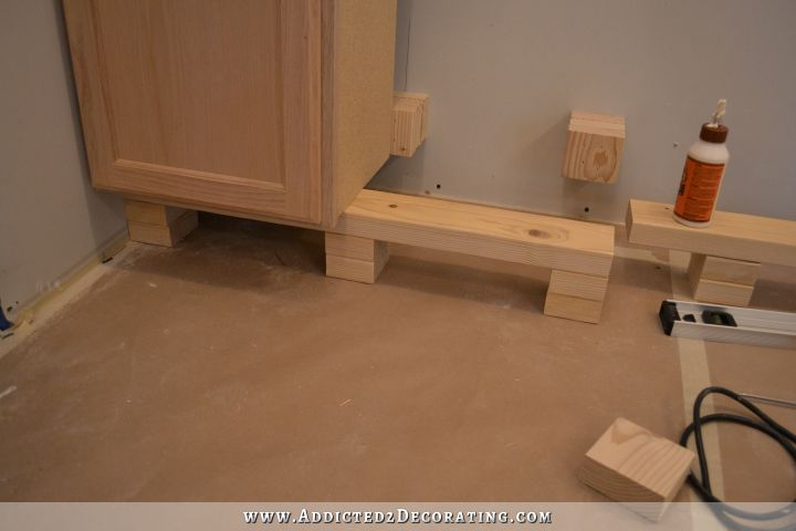 how to install upper kitchen cabinets peninsula cabinet installation almost finished 17081