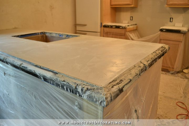 DIY concrete countertops 36