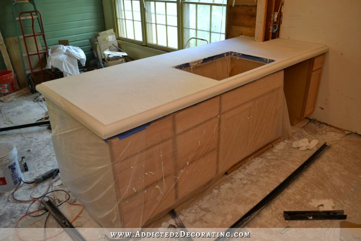DIY concrete countertops 49