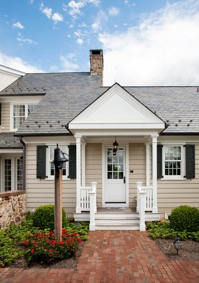 Stone Manor House by Worthington Custom Builder, via Houzz