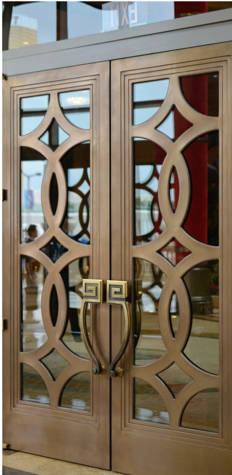 Bronze circle fretwork doors in Las Vegas