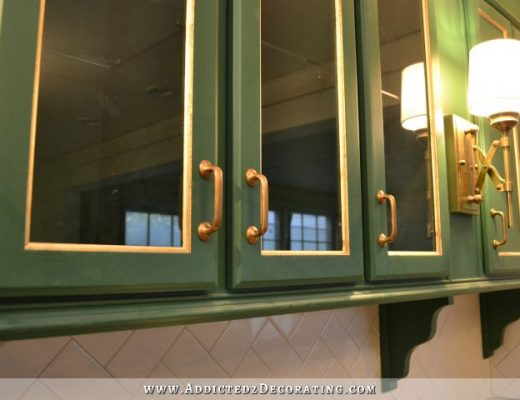 Pitted antique brass door pulls -- kitchen cabinet hardware from Pottery Barn