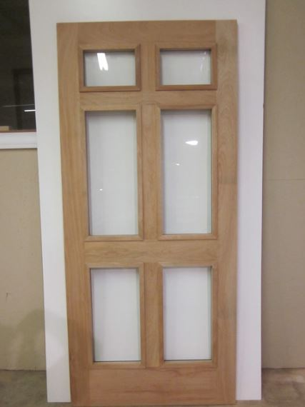 Six panel door with glass inserts, via Houzz