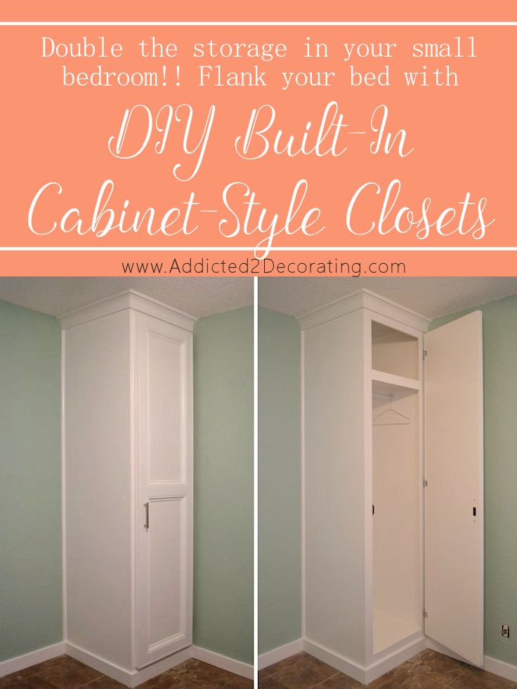 How To Build Cabinet Style Closets Flank The Bed 738