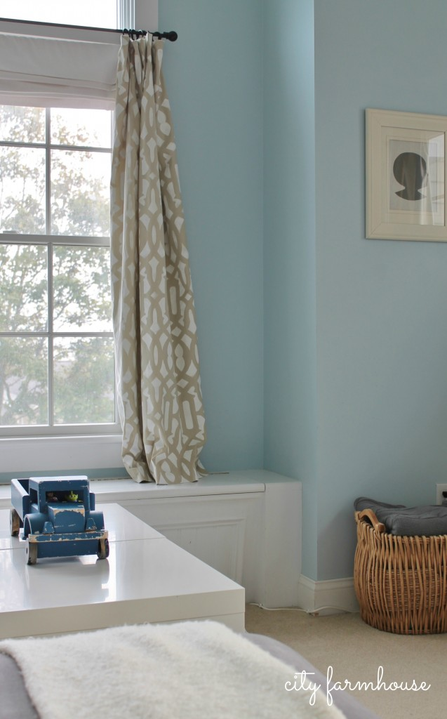 Stenciled Curtains   From City Farmhouse Blog Part 84