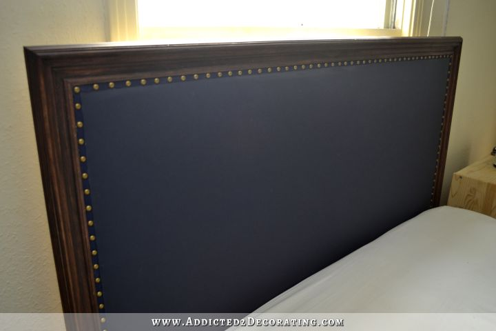 Wonderful DIY Wood Framed Upholstered Headboard With Nailhead Trim  DE49