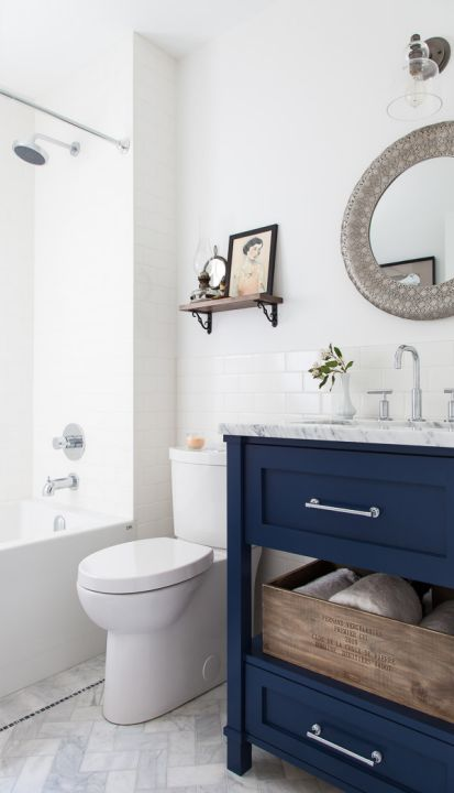 blue bathroom cabinet be inspired to paint your bathroom vanity a non neutral 12119