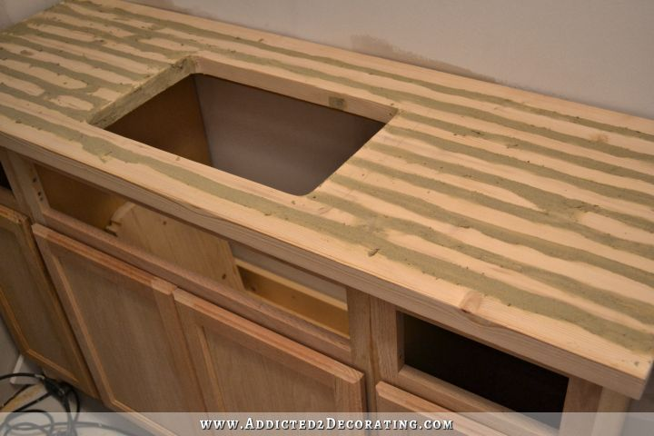 Diy Butcherblock Style Countertop With Undermount Sink