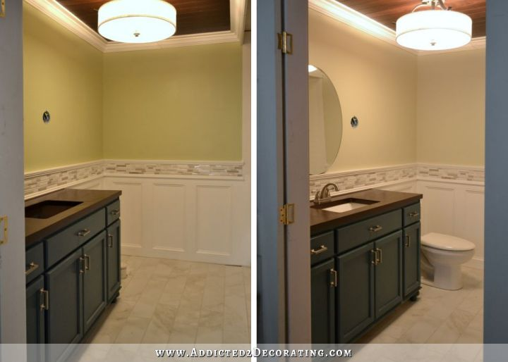 bathroom repainted before and after