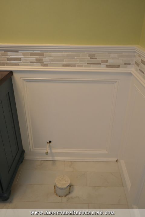 Finished recessed panel wainscoting judges paneling with for Bathroom wainscoting ideas
