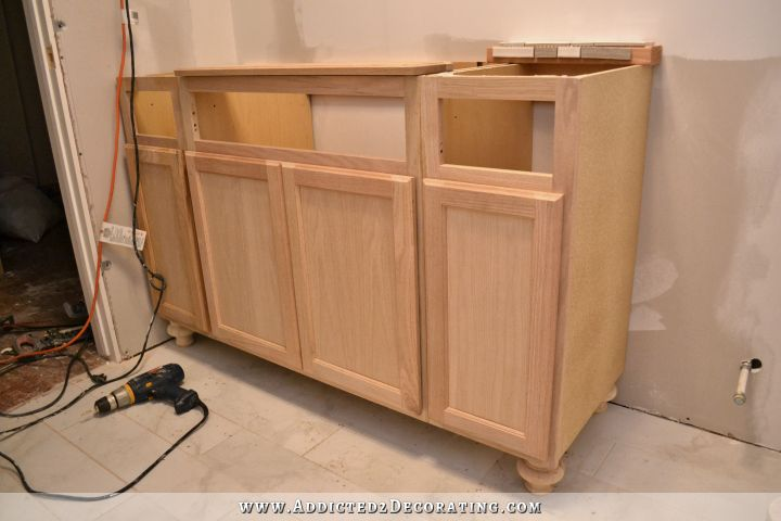 build bathroom cabinets furniture style bathroom vanity made from stock cabinets 12598