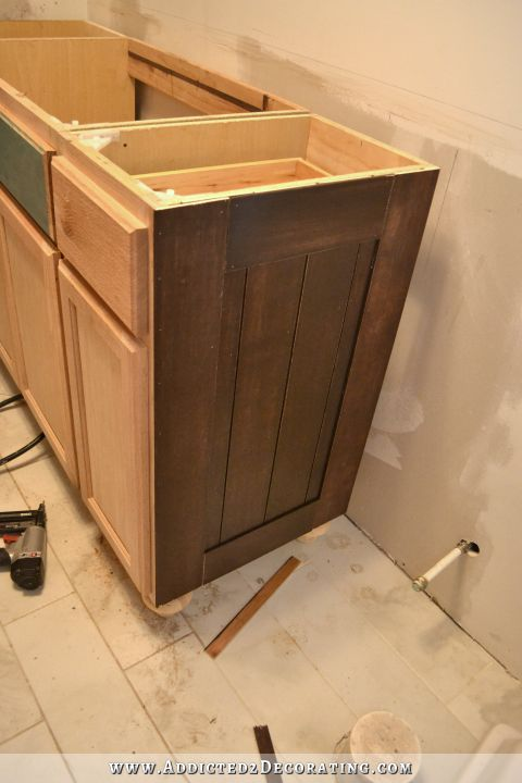 Superbe Furniture Style Bathroom Vanity From Stock Cabinets   17