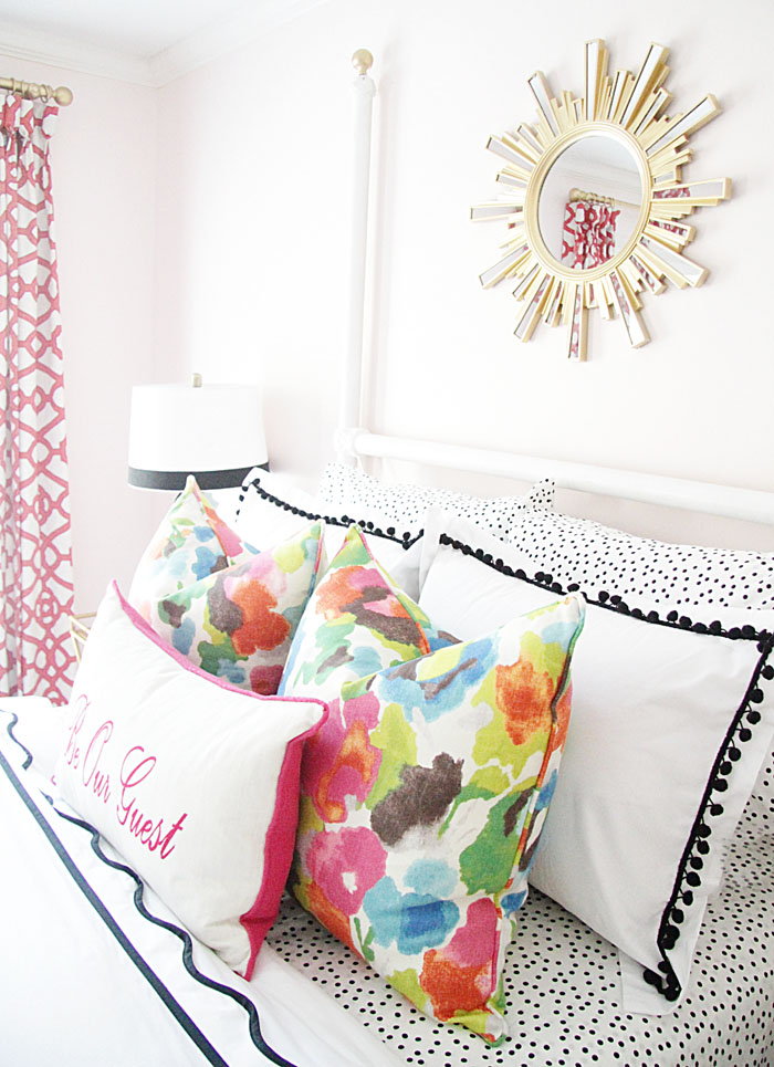 Inspiration from summer home tour - Charming In Charlotte guest bedroom