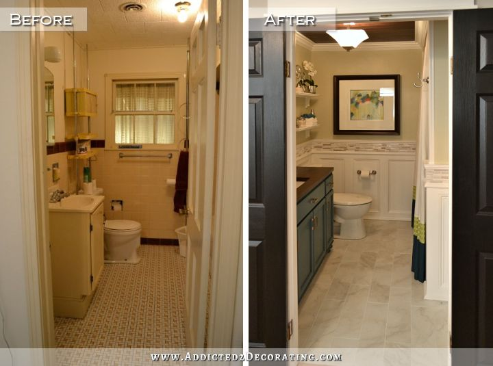 Before And After Bathroom Remodels Fair Diy Bathroom Remodel  Before & After Inspiration Design
