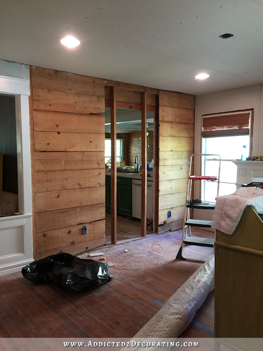 new cased opening in load bearing wall from dining room to kitchen - 5