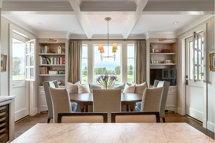 dining room by WRJ Design, via Houzz