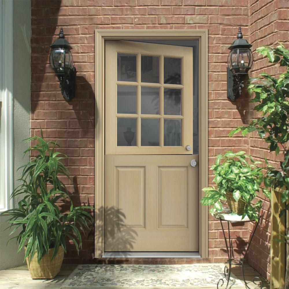front door options - 9 lite Dutch door