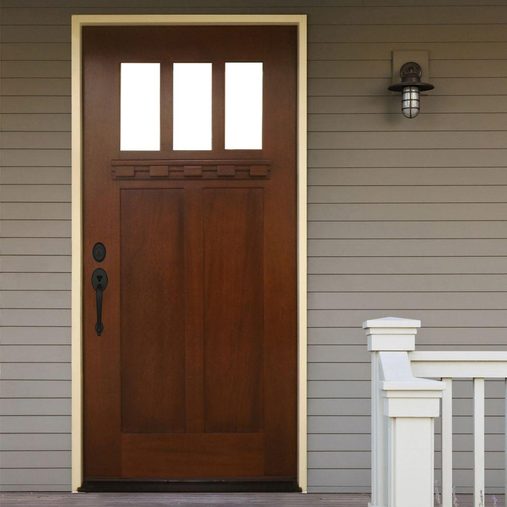 front door options - craftsman style door with glass