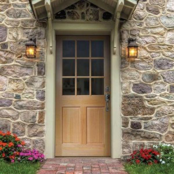 front door options - traditional style 9 lite door