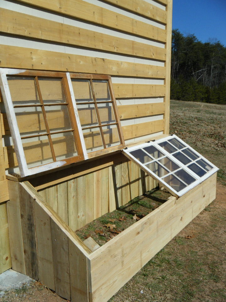 20 ways to repurpose old windows upcycled window projects for Small wooden greenhouse plans