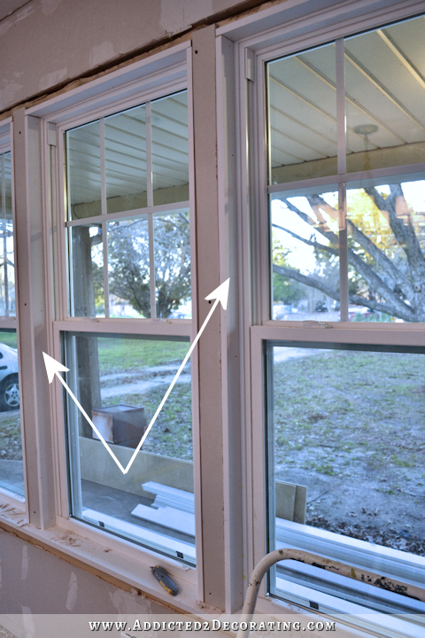 dining room - how to install trim and casing in new windows - 10