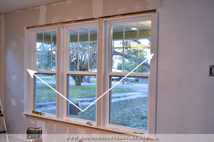 dining room - how to install trim and casing in new windows - 11