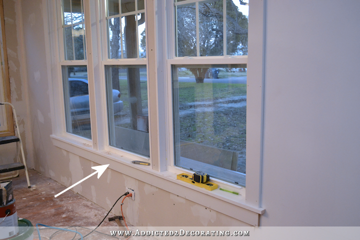 dining room - how to install trim and casing in new windows - 12
